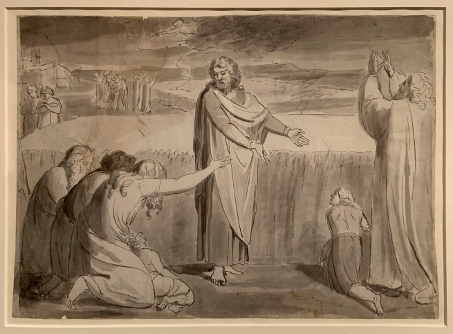 William Blake (British, 1757-1827) 'The Good Farmer, Probably the Parable of the Wheat and the Tares' c. 1780-85 (installation view)