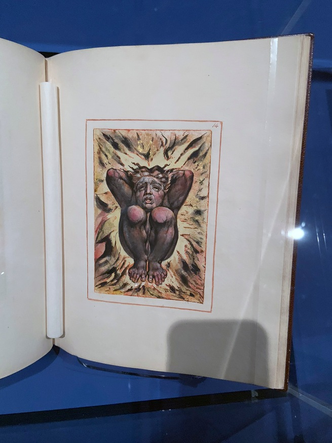William Blake (British, 1757-1827) 'The First Book of Urizen (Copy G)' 1794, printed c. 1818 (installation view)
