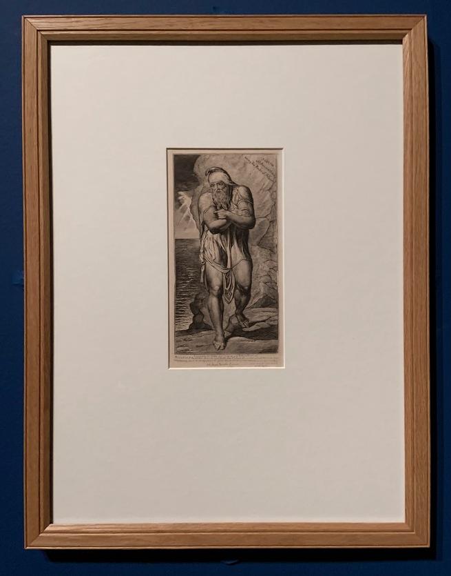 William Blake (British, 1757-1827) 'Joseph of Arimathea among the Rocks of Albion' c. 1810 (installation view)