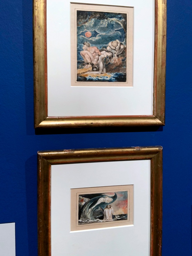 Installation view of the exhibition 'William Blake' at Tate Britain