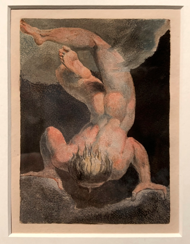 William Blake (British, 1757-1827) 'Copy A, Plate 7 in 'The First Book of Urizen'1794 (installation view)