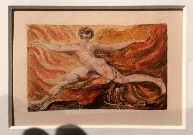 William Blake (British, 1757-1827) Small Book of Designs: Plate 9, 'Lo, a shadow of horror' 1794 (installation view)