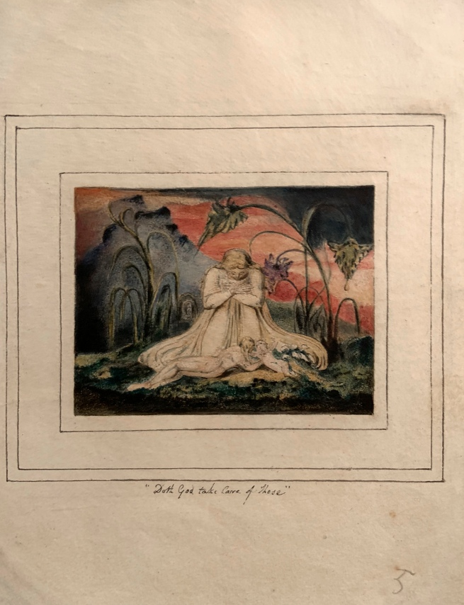 William Blake (British, 1757-1827) 'The Book of Thel, Plate 6'1796, c. 1818 (installation view)