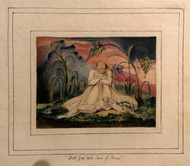 William Blake (British, 1757-1827) 'The Book of Thel, Plate 6' 1796, c. 1818 (installation view)