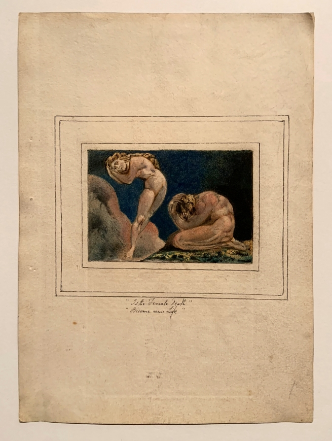 William Blake (British, 1757-1827) 'First Book of Urizen, Plate 17' 1796, c.1818 (installation view)