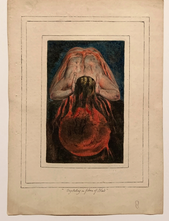 William Blake (British, 1757-1827) 'First Book of Urizen, Plate 15' 1796, c. 1818 (installation view)