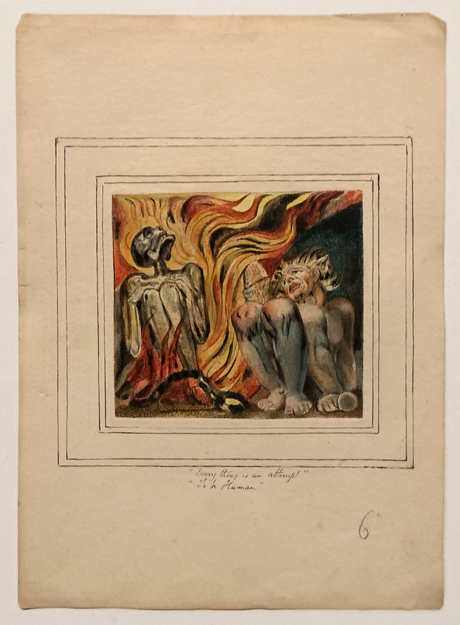 William Blake (British, 1757-1827) 'First Book of Urizen, Plate 10' 1796, c. 1818
