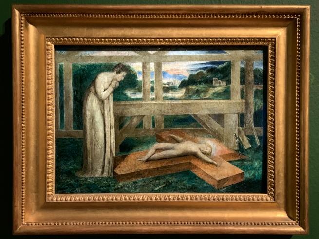 William Blake (British, 1757-1827). 'The Christ Child Asleep on the Cross' 1799-1800 (installation view)
