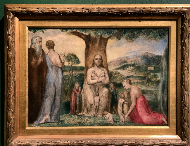 William Blake (British, 1757-1827) 'Christ Blessing the Little Children' 1799 (installation view)