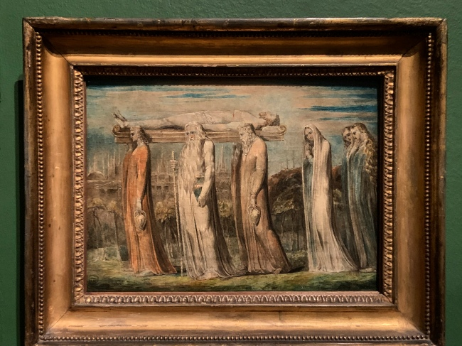 William Blake (British, 1757-1827) 'The Body of Christ Borne to the Tomb' c. 1799-1800 (installation view)