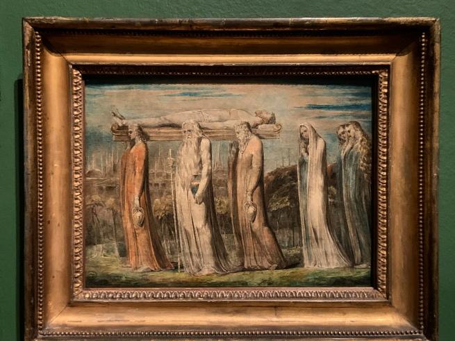 William Blake (British, 1757-1827) 'The Body of Christ Borne to the Tomb' c. 1799-1800 (installation view)