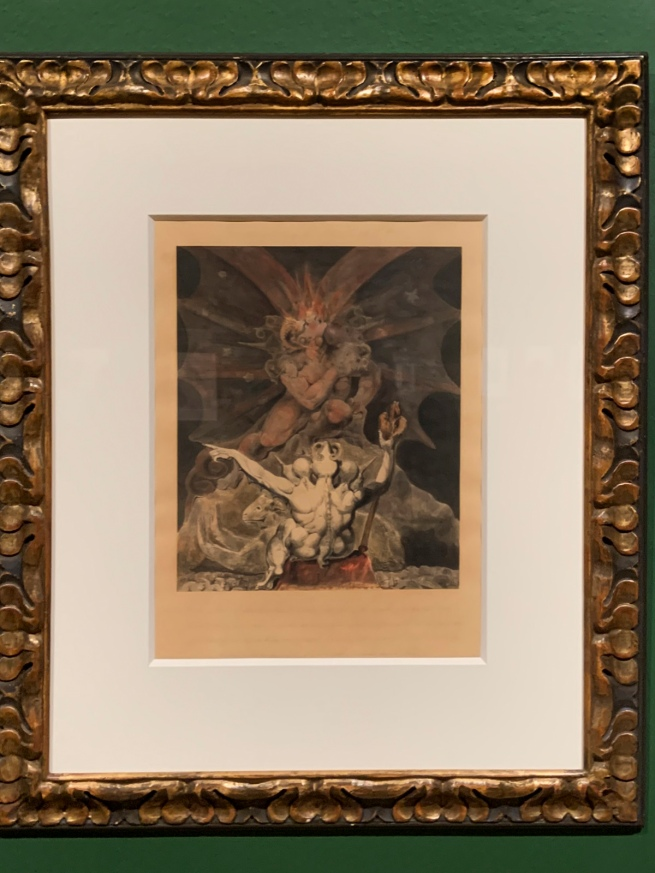 William Blake (British, 1757-1827) The Number of the Beast is 666 c. 1805 (installation view)
