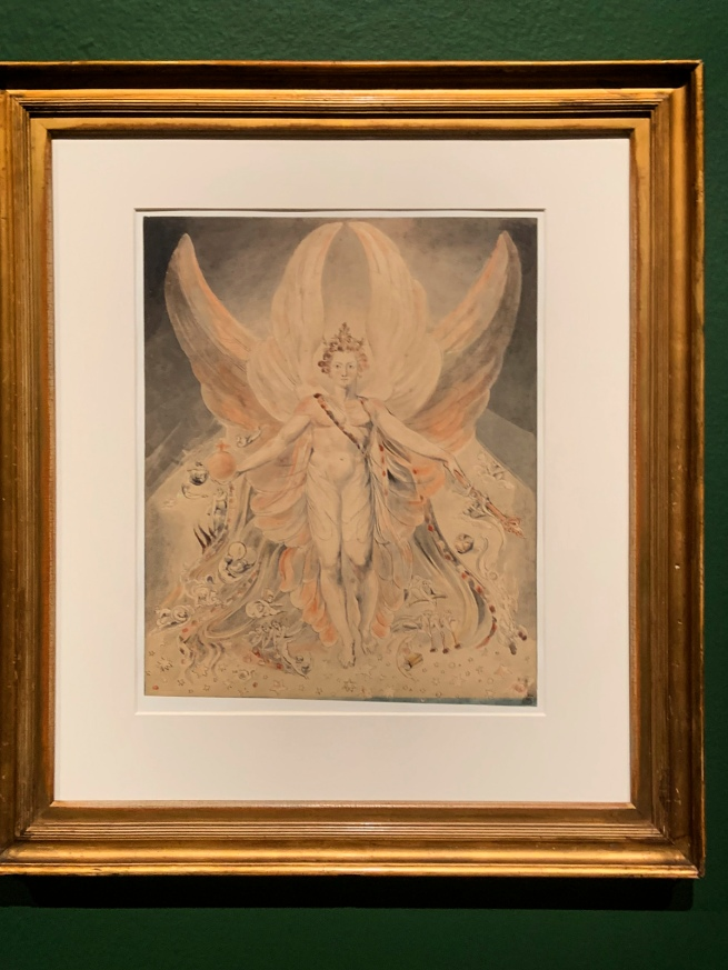 William Blake (British, 1757-1827) Satan in his Original Glory: 'Thou wast Perfect till Iniquity was Found in Thee' c. 1805 (installation view)