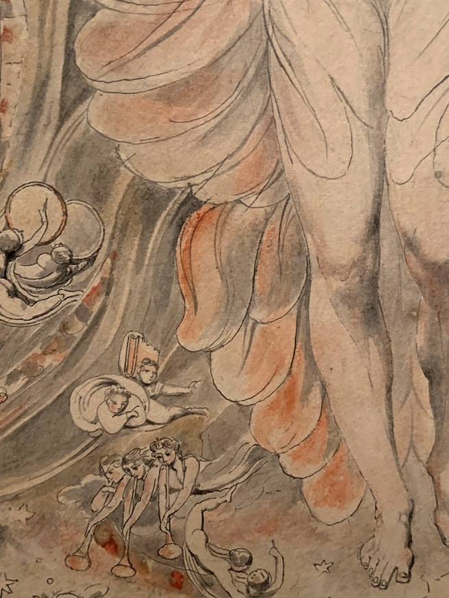 William Blake (British, 1757-1827) Satan in his Original Glory: 'Thou wast Perfect till Iniquity was Found in Thee'c. 1805 (installation view)