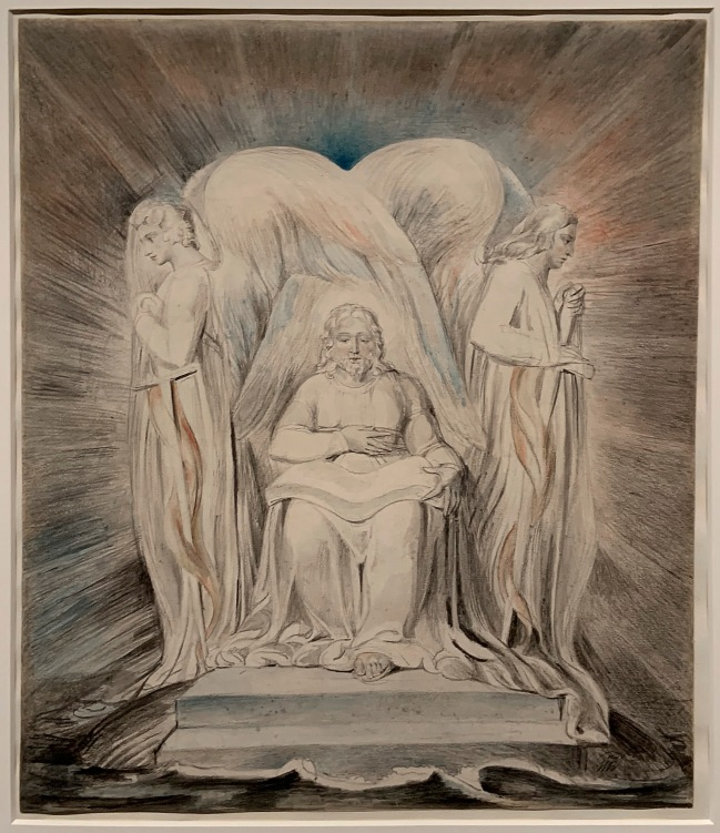 William Blake (British, 1757-1827) 'Christ Girding Himself with Strength' c. 1805 (installation view)