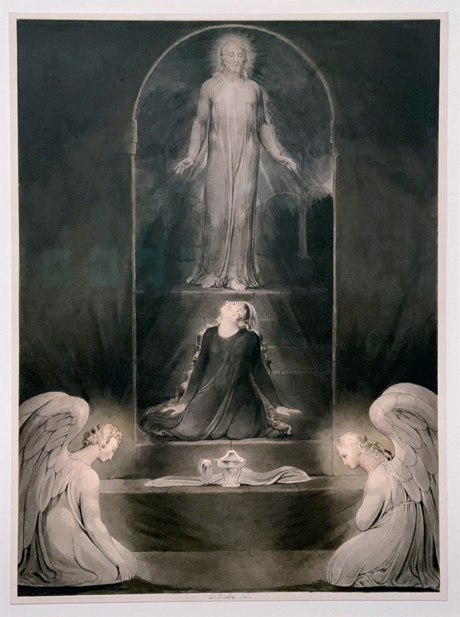 William Blake (British, 1757-1827) 'The Magdalene at the Sepulchre' c. 1805 (installation view)