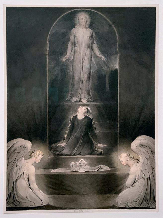 William Blake (British, 1757-1827) 'The Magdalene at the Sepulchre' c. 1805 (installation view)