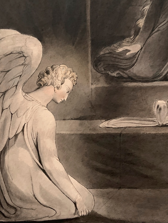 William Blake (British, 1757-1827) 'The Magdalene at the Sepulchre' c. 1805 (installation view detail)