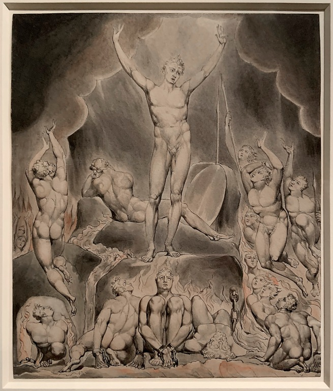 William Blake (British, 1757-1827) Illustrations to Milton's 'Paradise Lost' (Thomas set) 1807 (installation view)