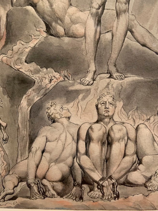 William Blake (British, 1757-1827) Illustrations to Milton's 'Paradise Lost' (Thomas set) 1807 (installation view detail)