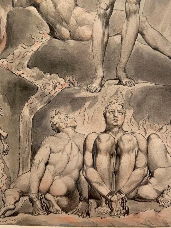 William Blake (British, 1757-1827) Illustrations to Milton's 'Paradise Lost' (Thomas set) 1807 (installation view detail)
