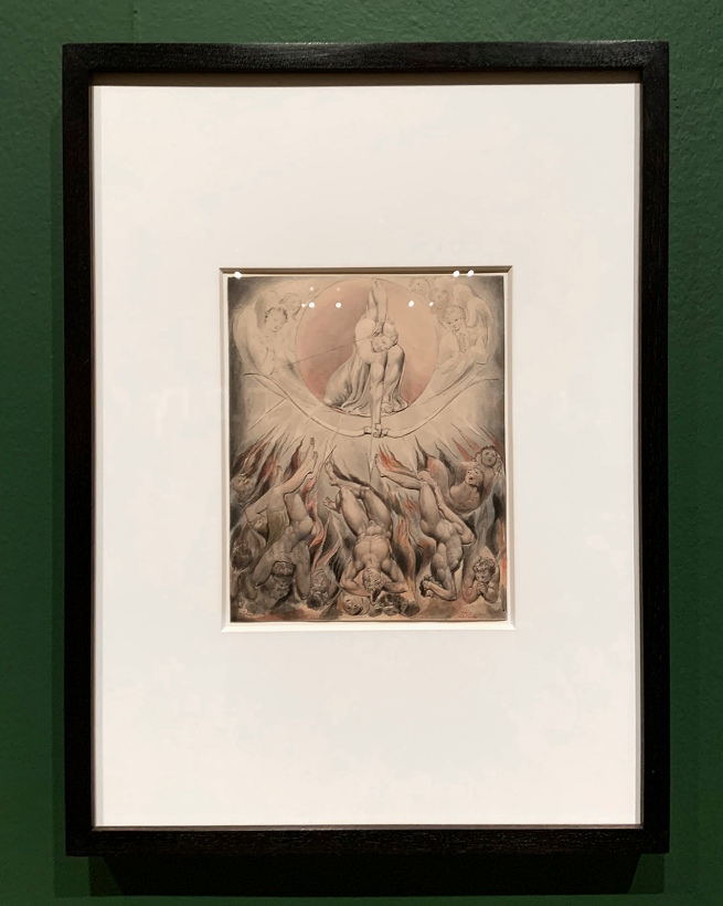William Blake (British, 1757-1827) Illustrations to Milton's 'Paradise Lost' Plate 7: 'The Rout of the Rebel Angels' (Thomas set) 1807 (installation view)