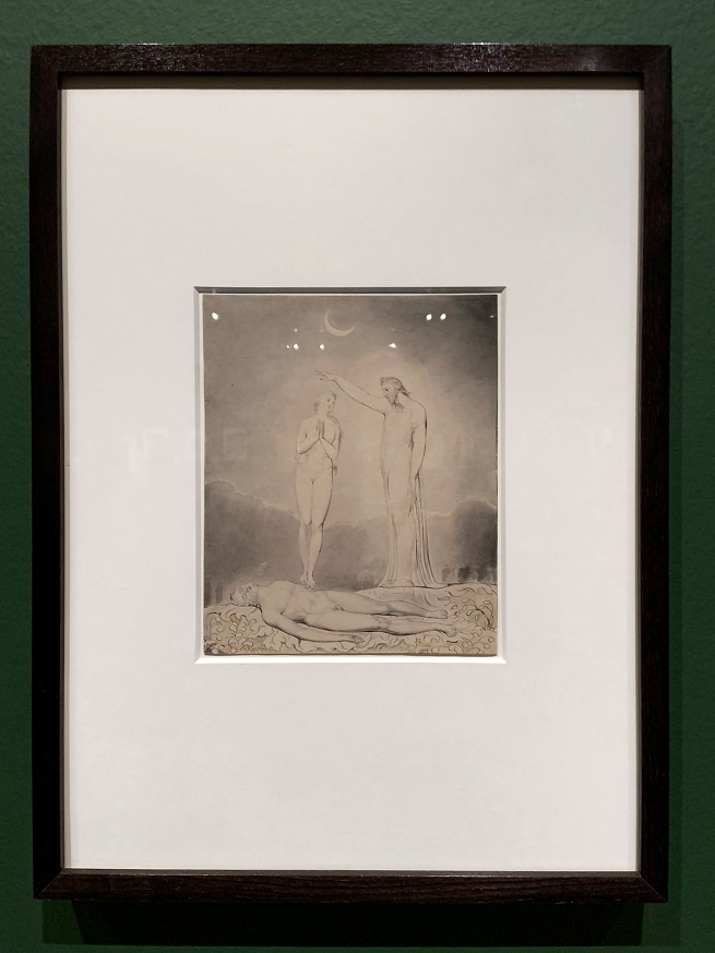 William Blake (British, 1757-1827) Illustrations to Milton's 'Paradise Lost' Plate 8: 'The Creation of Eve' (Thomas set) 1807 (installation view)