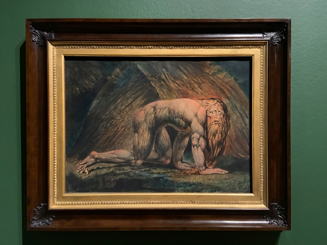 William Blake (British, 1757-1827) 'Nebuchadnezzar' 1795 - c. 1805 (installation view)