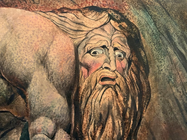 William Blake (British, 1757-1827) 'Nebuchadnezzar' 1795 - c. 1805 (installation view detail)