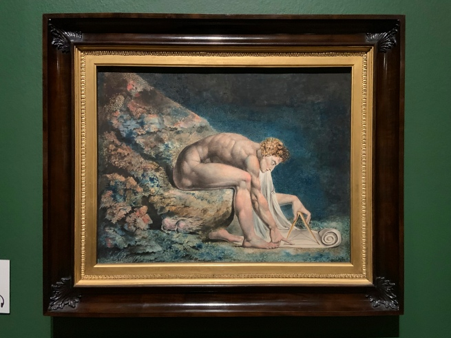 William Blake (British, 1757-1827) 'Newton' 1795 - c. 1805 (installation view)
