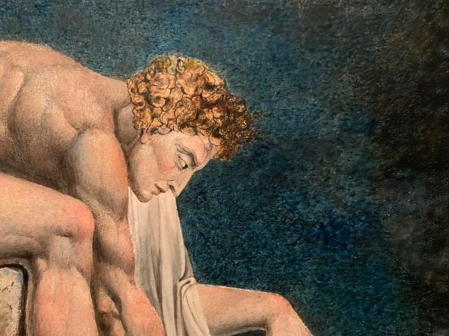 William Blake (British, 1757-1827) 'Newton' 1795 - c. 1805 (installation view detail)