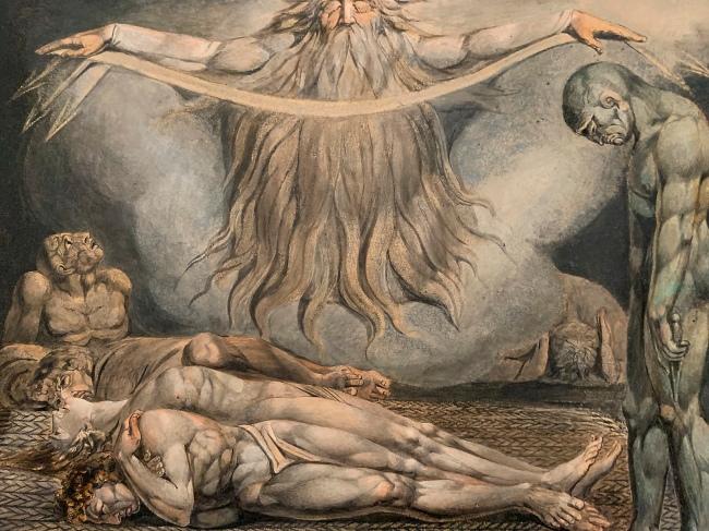 William Blake (British, 1757-1827) 'The House of Death' 1795 - c.1805 (installation view)