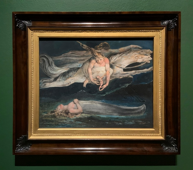 William Blake (British, 1757-1827) 'Pity' c. 1795 (installation view)