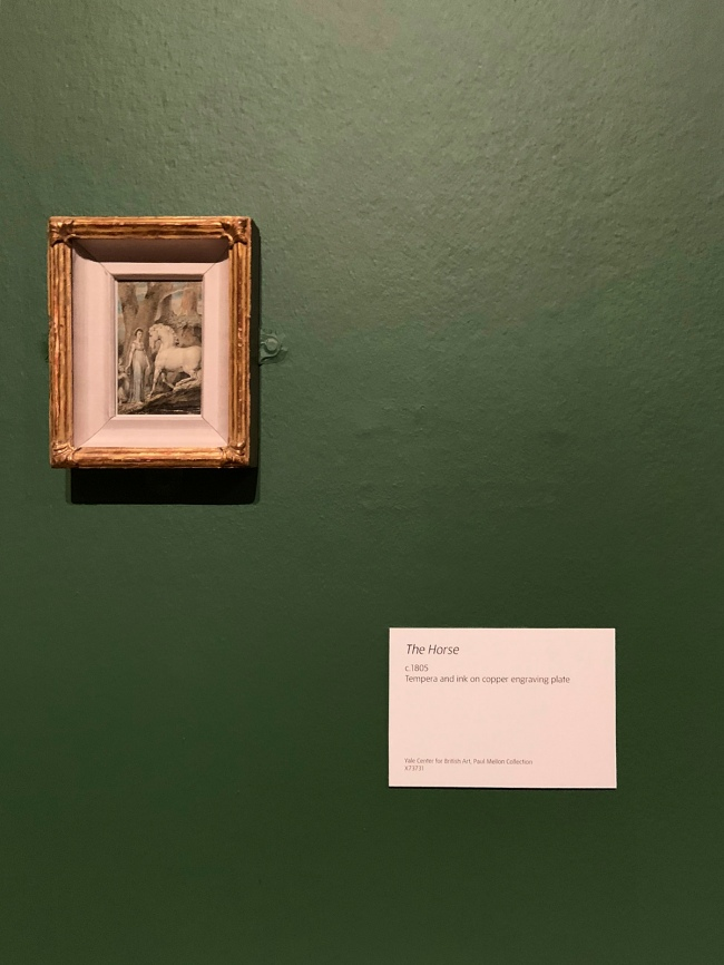 Installation view of the exhibition 'William Blake' at Tate Britain, London