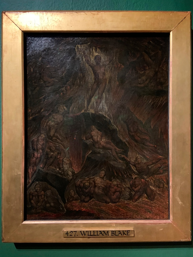 William Blake (British, 1757-1827) 'Satan calling up his Legions (from John Milton's 'Paradise Lost')' 1800-1805 (installation view)