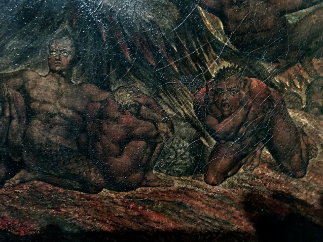 William Blake (British, 1757-1827) 'Satan calling up his Legions (from John Milton's 'Paradise Lost')' 1800-1805 (installation view detail)