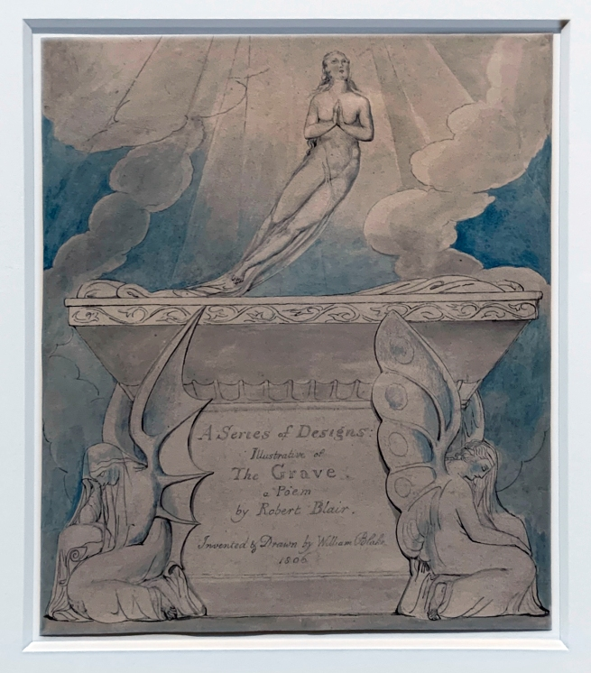 William Blake (British, 1757-1827) A Title Page for 'The Grave' 1806 (installation view)
