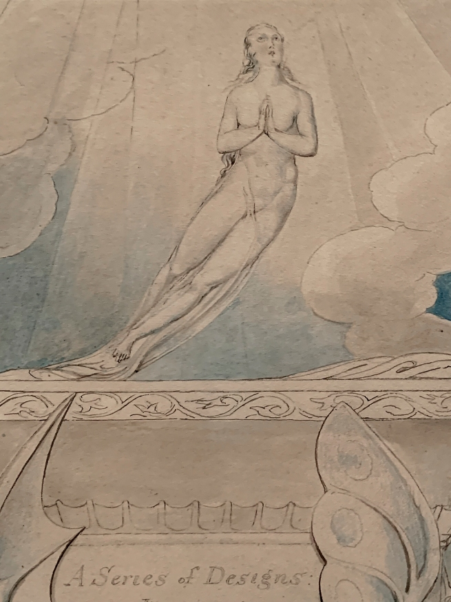 William Blake (British, 1757-1827) A Title Page for 'The Grave' 1806 (installation view detail)