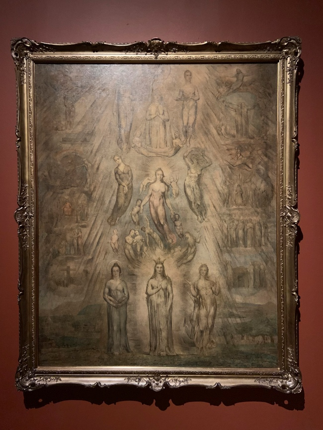 William Blake (British, 1757-1827) 'An Allegory of the Spiritual Condition of Man' ? 1811 (installation view)