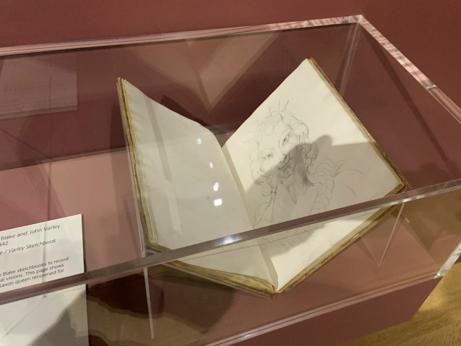 John Linnell (British, 1792-1882) and John Varley (British, 1778-1842) 'The Blake / Varley Sketchbook' 1819 (installation view)