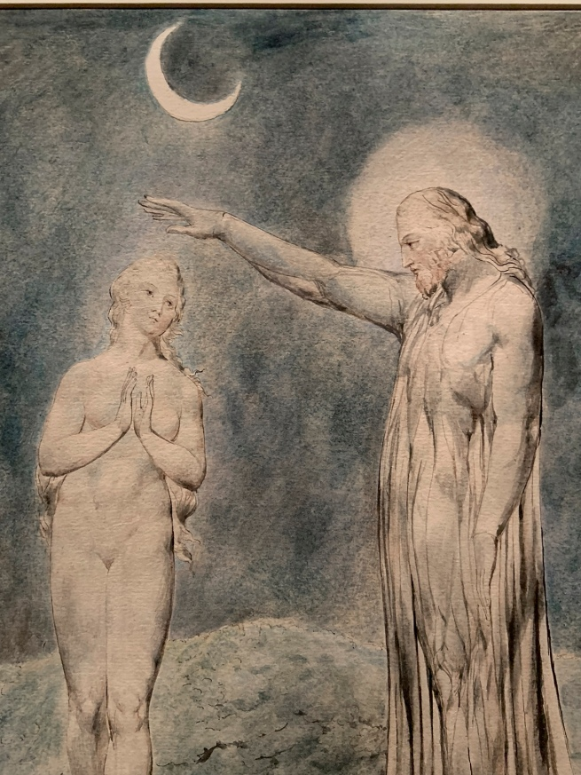 William Blake (British, 1757-1827) 'The Creation of Eve' 1822 (installation view)