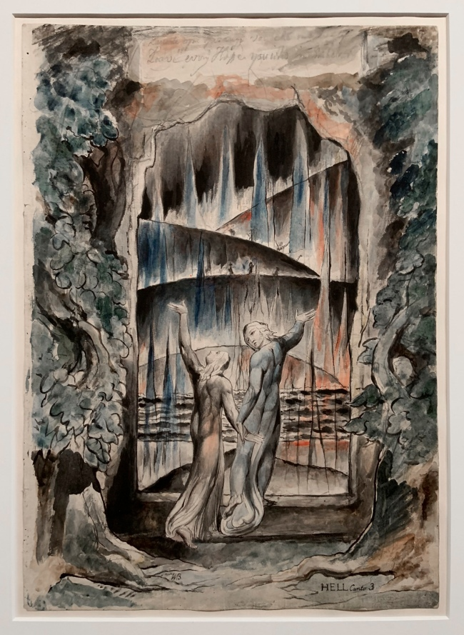 William Blake (British, 1757-1827) 'The Inscription over the Gate' 1824-7 (installation view)