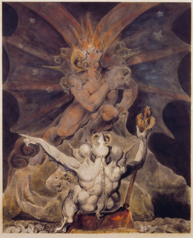 William Blake (British, 1757-1827) 'The Number of the Beast is 666' c. 1805