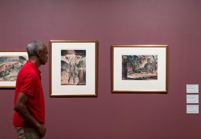 Installation views of the exhibition 'William Blake' at Tate Britain