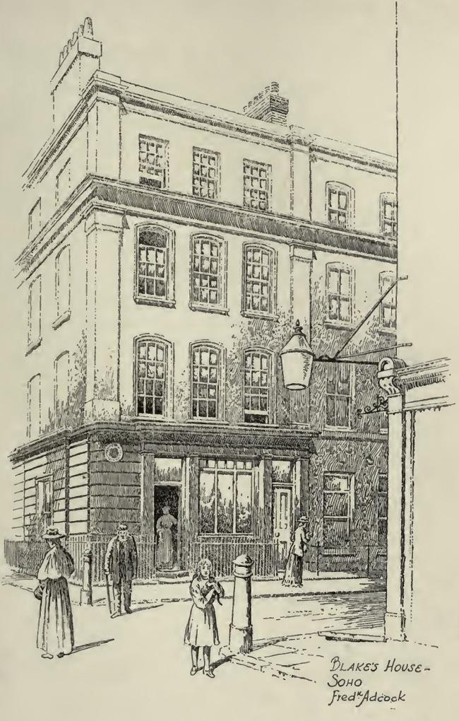 Frederick Adcock (British, 1864-1930) 'William Blake's house, Soho, London' 1912