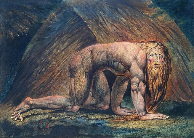 William Blake (British, 1757-1827) 'Nebuchadnezzar' 1795 - c. 1805