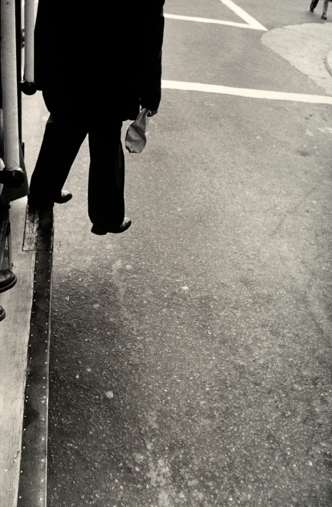 Dorothea Lange (American, 1895-1965) 'Man Stepping from Cable Car, San Francisco' 1956