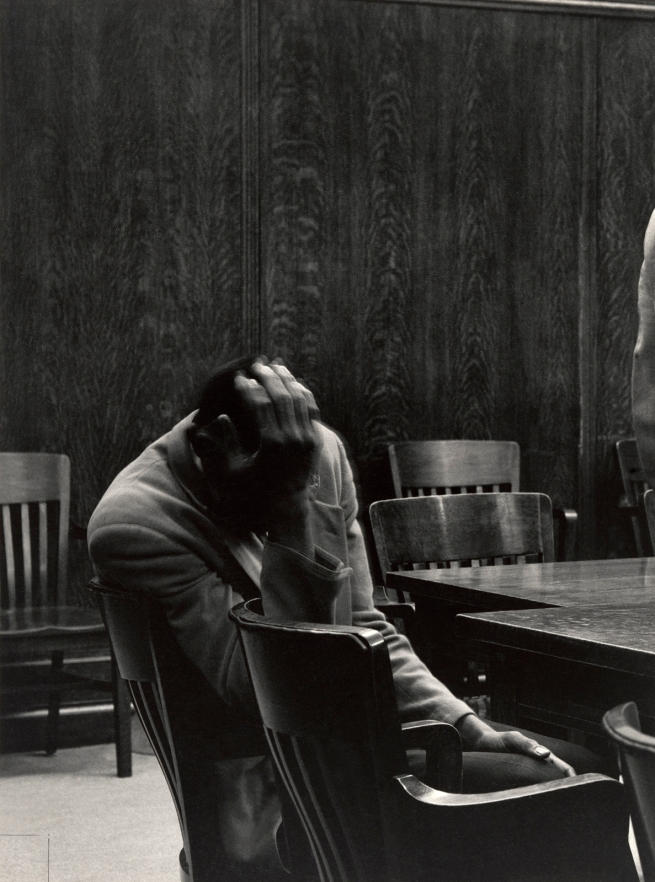 Dorothea Lange (American, 1895-1965) 'The Defendant, Alameda County Courthouse, California' 1957
