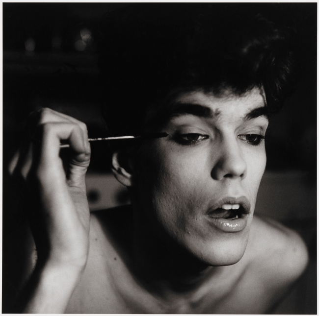 Peter Hujar (American, 1934-1987) 'David Brintzenhofe Applying Makeup (II)' 1982