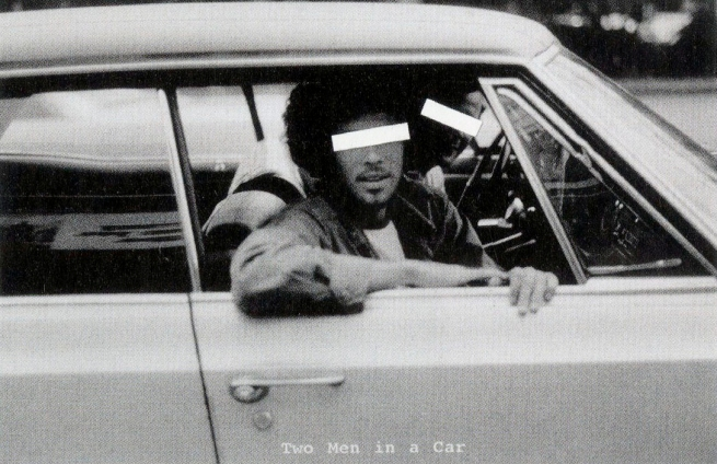 Laurie Anderson (American, b. 1947) 'Two men in a car' 1973